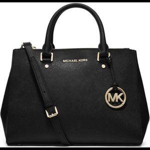 Michael Michael Kors Sutton Medium Tote Bag Black